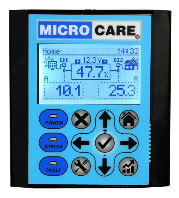 Battery Monitoring System : Solar monitoring systems comms microcare