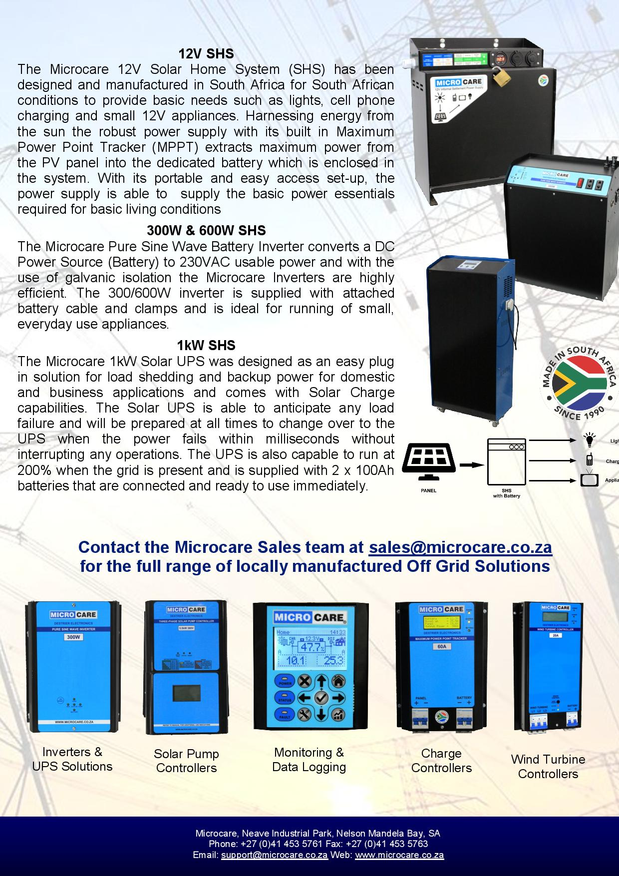 rural solar solutions microcare rh microcare co za Resinlab Manufacturer Microcare MSDS